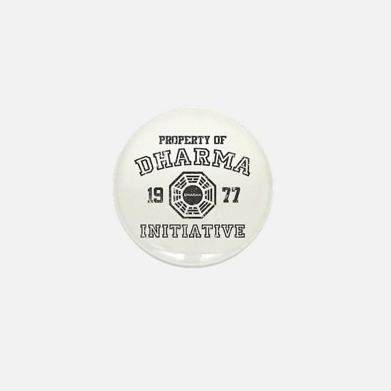 Property of Dharma Distressed Mini Button
