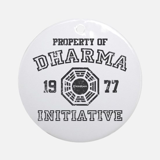 Property of Dharma Distresses Round Ornament