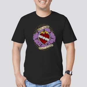 Immaculate Heart Men's Fitted T-Shirt (dark)