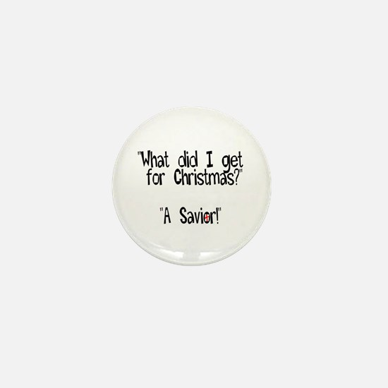 Christmas Savior Mini Button