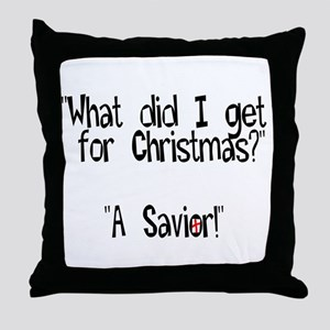 Christmas Savior Throw Pillow