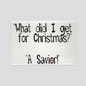 Christmas Savior Rectangle Magnet