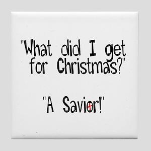 Christmas Savior Tile Coaster