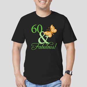 60 & Fabulous Birthday Men's Fitted T-Shirt (dark)