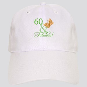 60 & Fabulous Birthday Cap