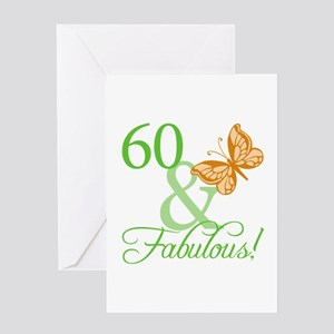 60 & Fabulous Birthday Greeting Card