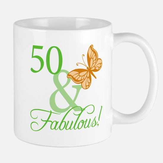 50 & Fabulous Birthday Mug