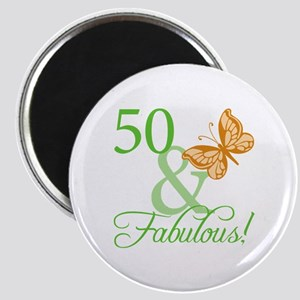 50 & Fabulous Birthday Magnet