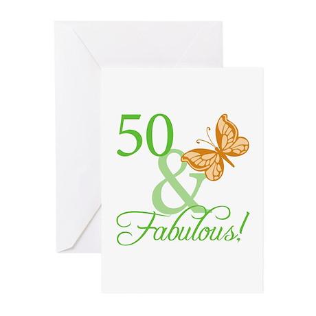 50 & Fabulous Birthday Greeting Cards (Pk of 20)