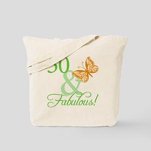 50 & Fabulous Birthday Tote Bag