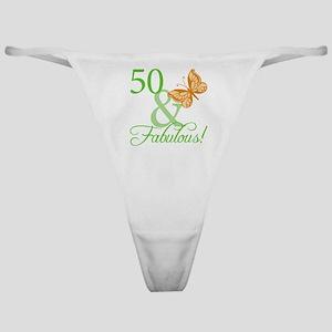 50 & Fabulous Birthday Classic Thong