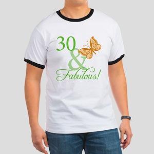 30 & Fabulous Birthday Ringer T