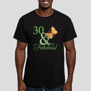 30 & Fabulous Birthday Men's Fitted T-Shirt (dark)
