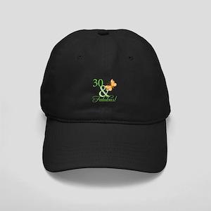 30 & Fabulous Birthday Black Cap