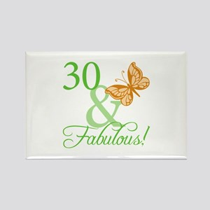 30 & Fabulous Birthday Rectangle Magnet