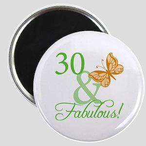 30 & Fabulous Birthday Magnet