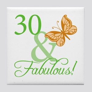 30 & Fabulous Birthday Tile Coaster