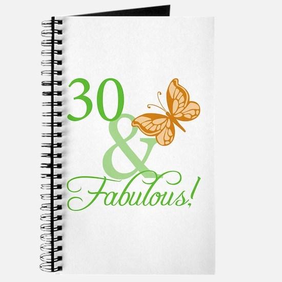 30 & Fabulous Birthday Journal