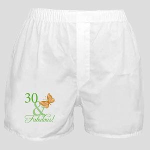 30 & Fabulous Birthday Boxer Shorts