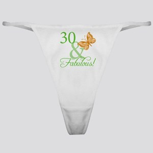 30 & Fabulous Birthday Classic Thong