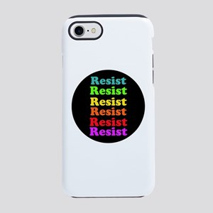 Resist Trump, gay pride iPhone 7 Tough Case