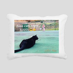 Tennis Cat Rectangular Canvas Pillow