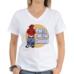 Pants on the ground Women's V-Neck T-Shirt