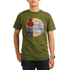 Pants on the ground Organic Men's T-Shirt (dark)