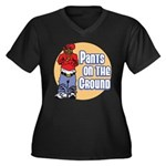 Pants on the ground Women's Plus Size V-Neck Dark