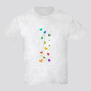 Hearts buttons - Kids Light T-Shirt