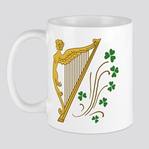 Lady Harp And Shamrocks Mug