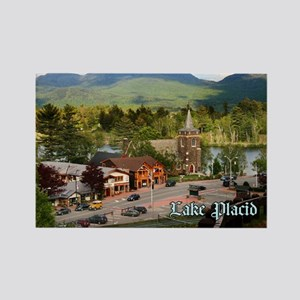 Lake Placid Rectangle Magnet