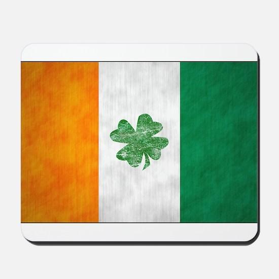 Irish Shamrock Flag Mousepad