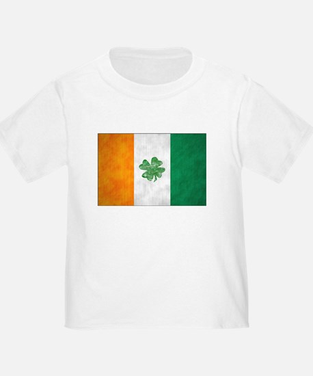 Irish Shamrock Flag T