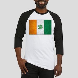 Irish Shamrock Flag Baseball Jersey