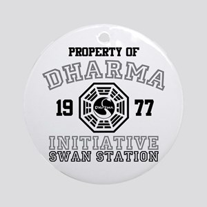 Property of Dharma - Swan Round Ornament