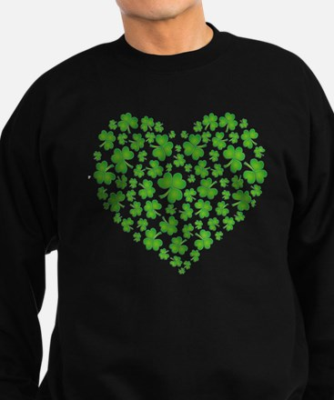 MY IRISH SHAMROCK HEART Sweatshirt (dark)