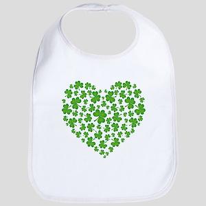 MY IRISH SHAMROCK HEART Bib