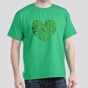 MY IRISH SHAMROCK HEART Dark T-Shirt
