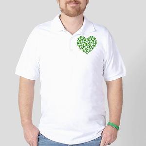 MY IRISH SHAMROCK HEART Golf Shirt