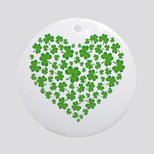 MY IRISH SHAMROCK HEART Ornament (Round)