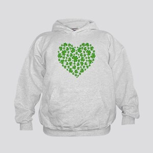 MY IRISH SHAMROCK HEART Kids Hoodie