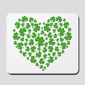 MY IRISH SHAMROCK HEART Mousepad