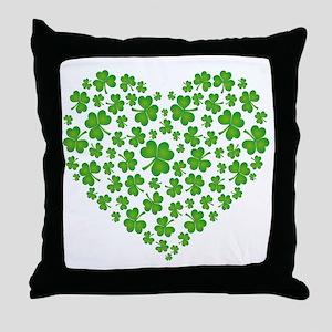 MY IRISH SHAMROCK HEART Throw Pillow