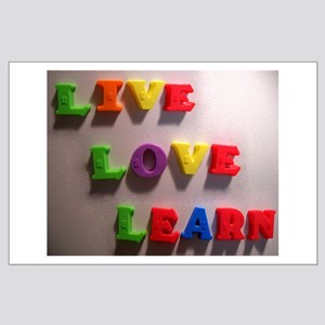 Live Love Learn Large Poster