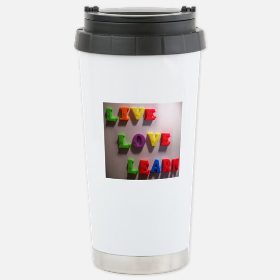 Live Love Learn Stainless Steel Travel Mug