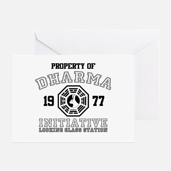 Property of Dharma - Looking Glass Greeting Card