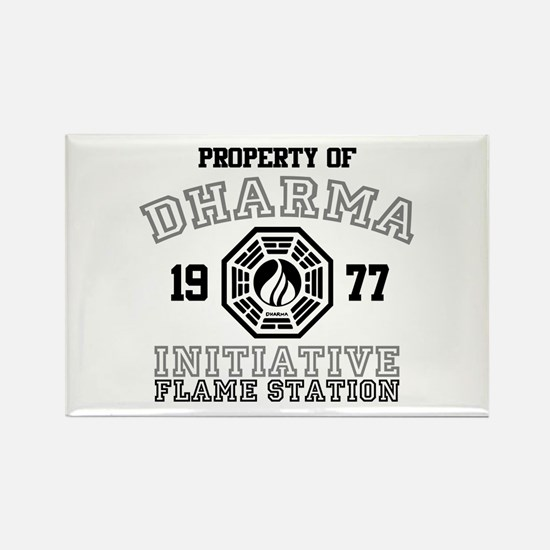 Property of Dharma - Flame Rectangle Magnet