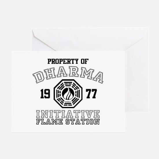 Property of Dharma - Flame Greeting Card
