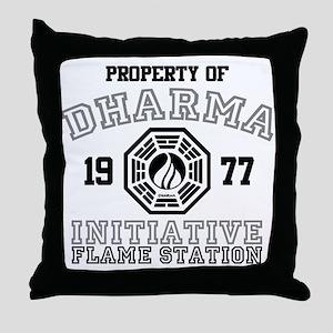 Property of Dharma - Flame Throw Pillow